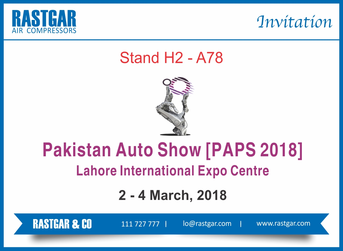 You Are Invited To Paps 2018 Rastgar Air Compressors