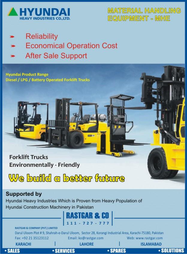 Hyundai : Material Handling Equipment (MHE) in Pakistan - Rastgar